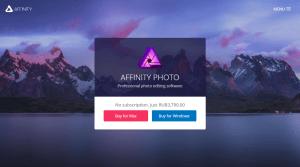 Affinity Photo, бюджетный конкурент Photoshop от Serif, теперь доступен для пользователей и Mac, и ПК