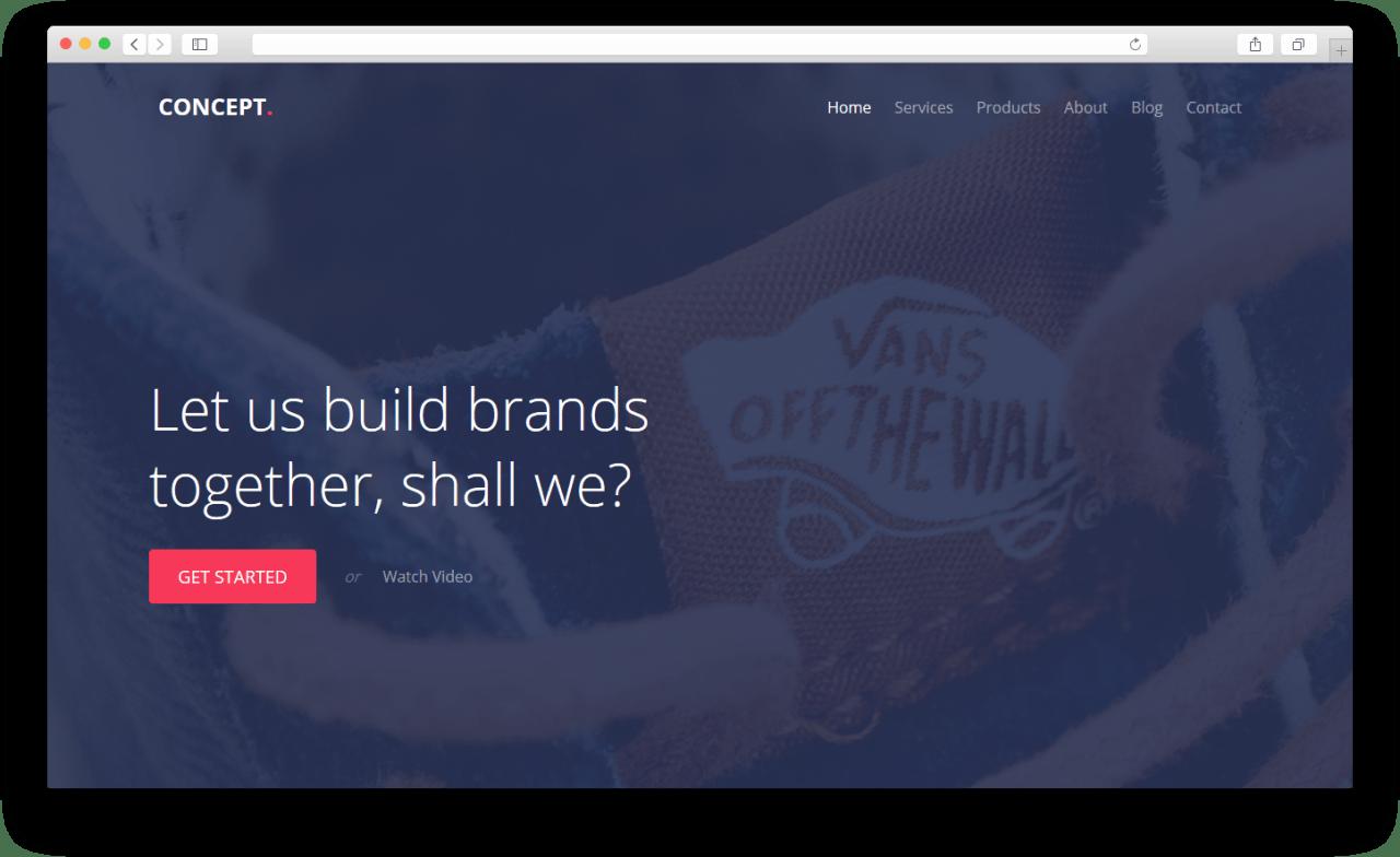 Concept | Бесплатный многоцелевой шаблон веб-сайта созданный с помощью фреймворка Bootstrap Framework