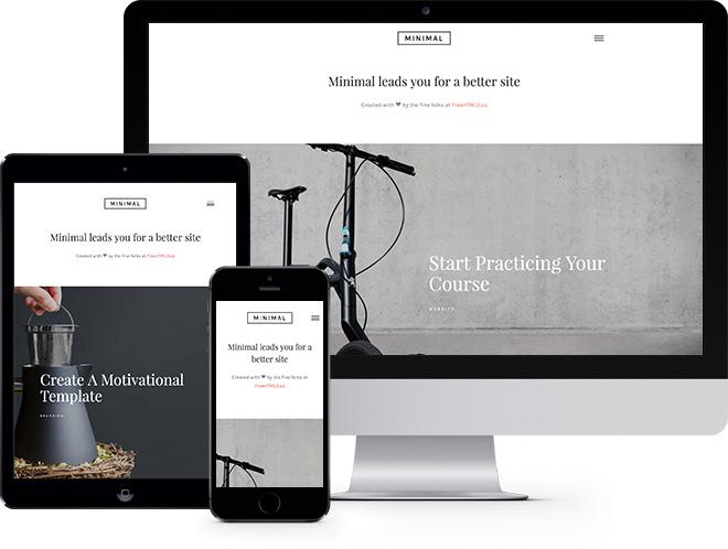 Minimal | Бесплатный HTML5 шаблон для любого типа сайтов