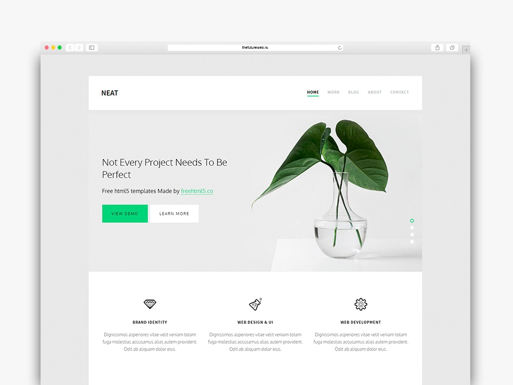 Neat Free HTML5 Bootstrap Website Template for Portfolio