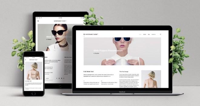 Бесплатный красивый PSD мокам для презентации адаптивного веб-дизайна