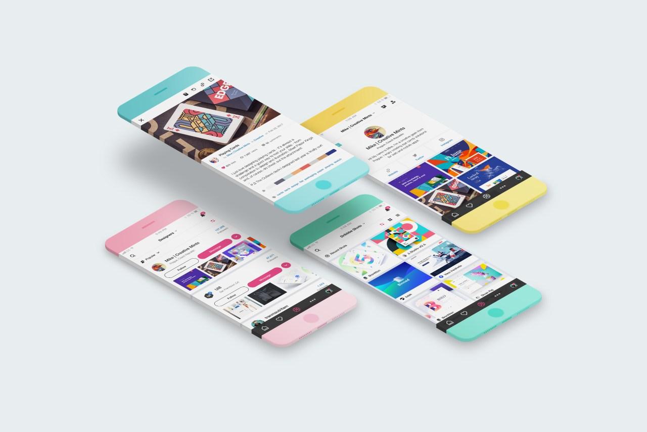 Новый бесплатный минималистичный мокап телефона