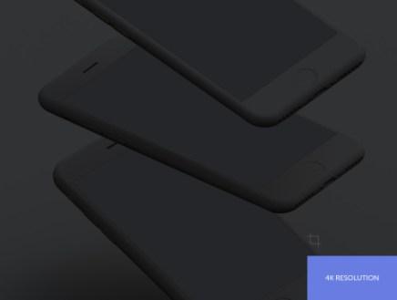 Simple Mockups Dark – 8 Бесплатных темных PSD мокапов iPhone