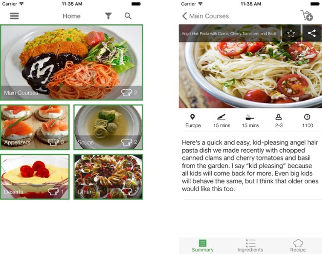 iOS Recipe App