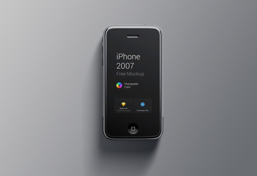 Free iPhone 1st Generation Mockup for PS & Sketch