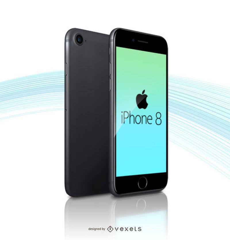Шаблон макета Apple iPhone 8 в PSD Формате
