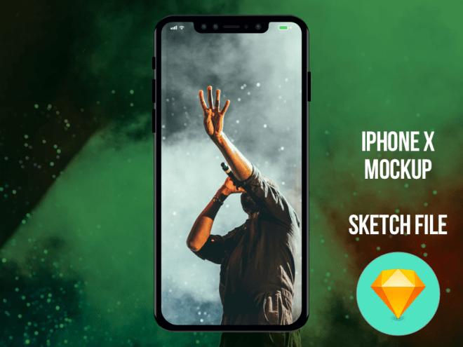 Мокап iPhone X в файле для Sketch