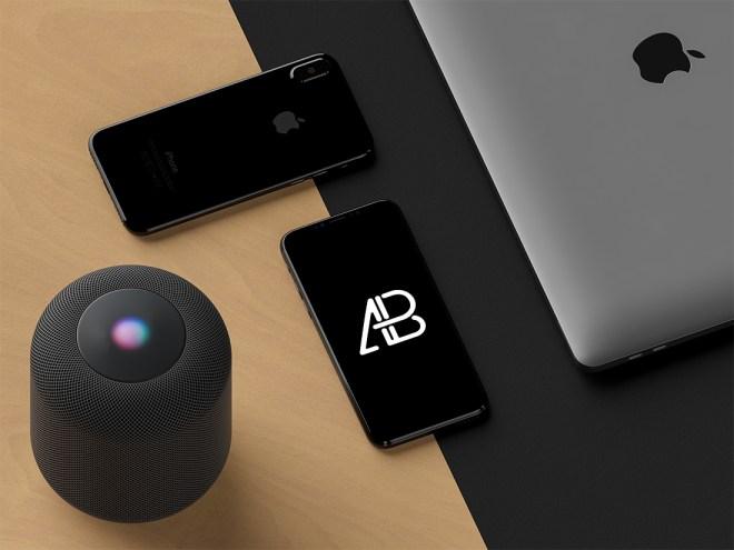 Современный Mockup iPhone X в формате PSD