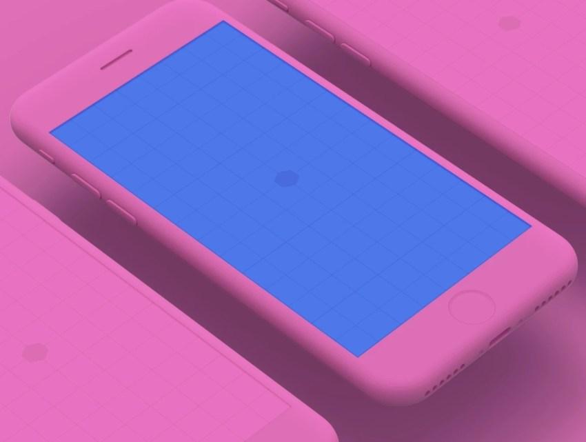 iPhone 8 Clay Mockups v1 – мокапы iPhone 8 для Adobe Photoshop в высоком разрешении