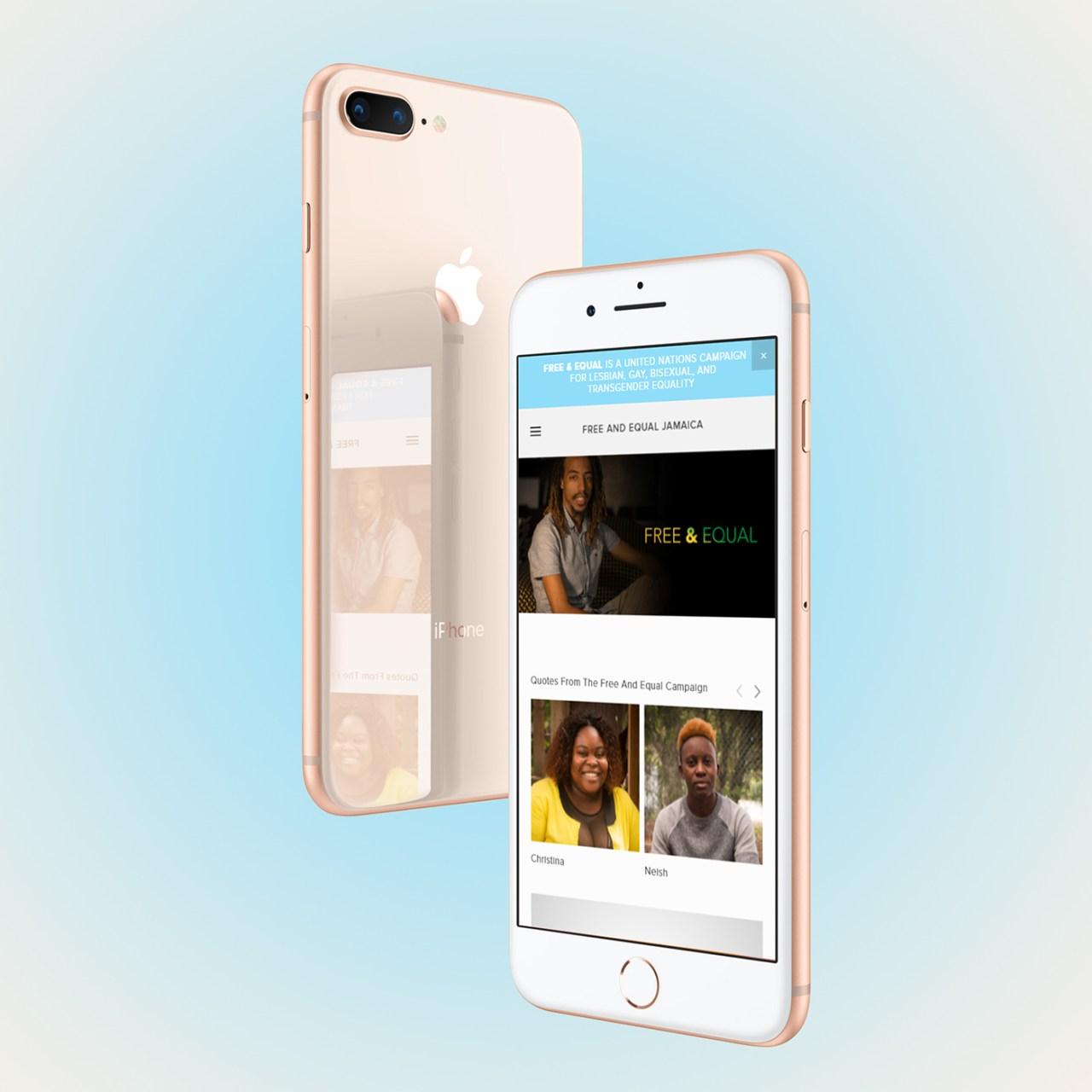 Бесплатные демонстрационные макеты экранов iPhone 8 Plus для Adobe Photoshop