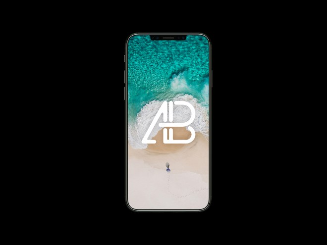 iPhone X Front View Mockup
