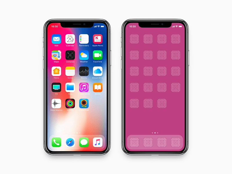 iPhone X - Mockup (fit 2436 x 1125 pixel resolution)