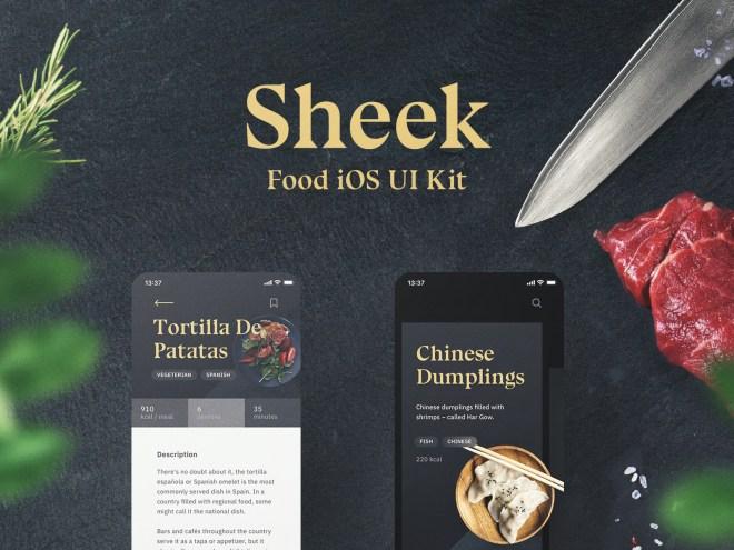 Sheek Food iOS UI Kit – Sheek is a food UI Kit for iOS based on Shift Design System