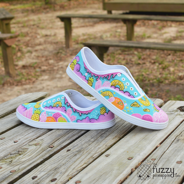 Custom Handpainted Handmade Canvas Shoes by The Fuzzy Pineapple