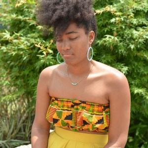 Sunshine Kente Custom Reversible Bandeau Top