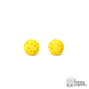 Pollen Gardens M Fabric Button Earrings