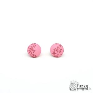 Flutter S Fabric Button Earrings