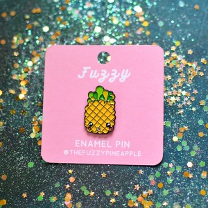 Fuzzy Pineapple Enamel Pin