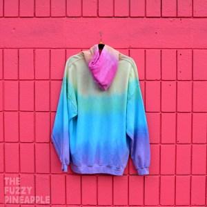 XL Rainbow Stripe Hoodie RTS
