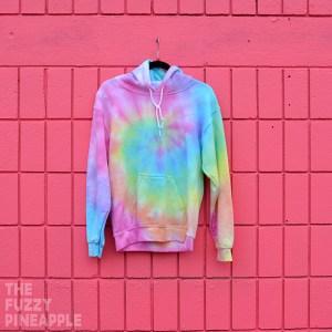 S – Rainbow Swirl Hoodie RTS