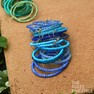 Blue + Periwinkle Beaded Hoop Earring Collection