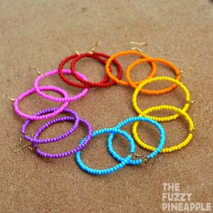 Rainbow Beaded Hoop Earring Collection