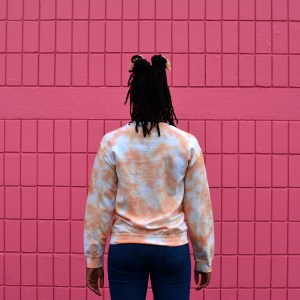 Pastel Orange Crew Neck Sweatshirt