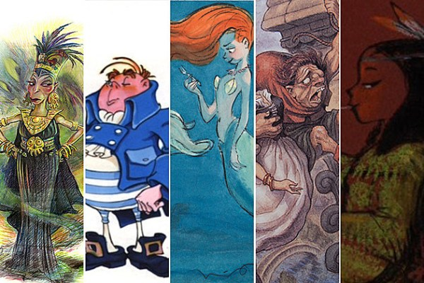 Disney Concept Art See How Your Favorite Characters