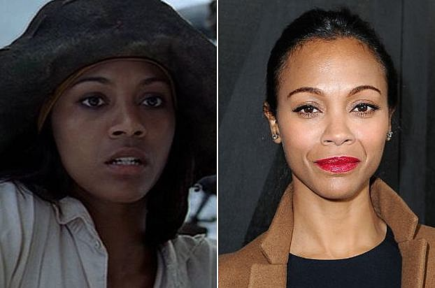 Image result for zoe saldana then and now