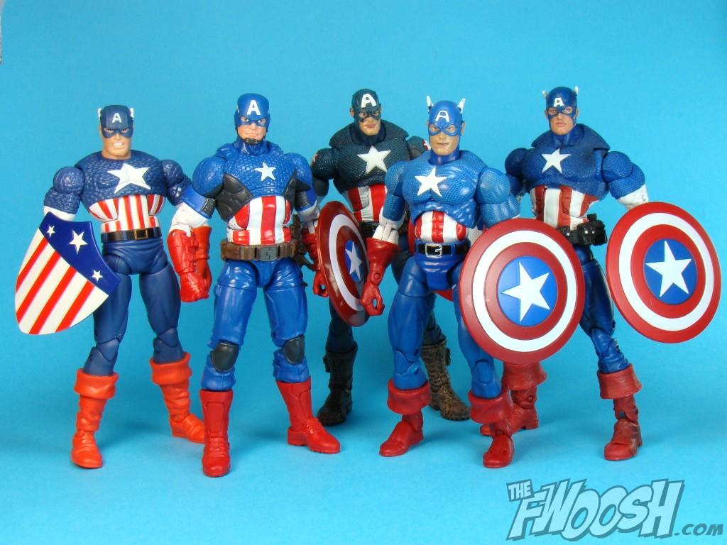 top 5 marvel legends / legends infinite captain america