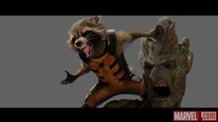 Rocket Raccoon and Groot from Marvel's Guardians of the Galaxy