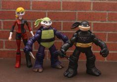 TMNT BATMAN Custom 5 Figure BANE, JOKER, HARLEY, ROBIN, You pick LOOK!! 2