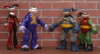 TMNT BATMAN Custom 5 Figure BANE, JOKER, HARLEY, ROBIN, You pick LOOK!!