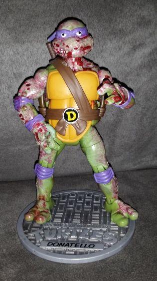Teenage Mutant Ninja Turtle CUSTOM ZOMBIE DONATELLO Classics TMNT HALLOWEEN DON