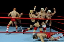 Four Horsemen figure review - Four Horsemen vs Lex Luger and Dusty Rhodes
