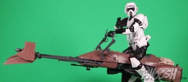 Bandai Star Wars 6 Inch Plastic Model Kit Speeder Bike Biker Scout Featured
