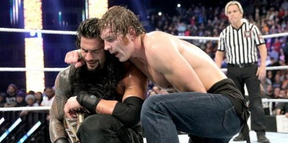 WWE Survivor Series 2015 - Ambrose and Reigns