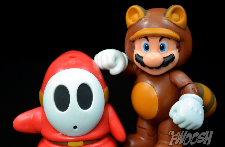 Jakks Pacific World of Nintendo Tanooki Mario and Shy Guy
