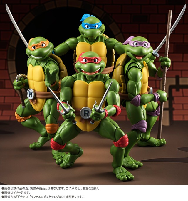 Bandai Tamashii Nation SH Figuarts Teenage Mutant Ninja Turtles Promo