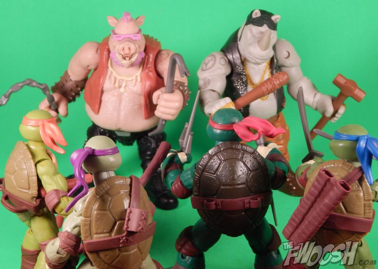 Teenage Mutant Ninja Turtles OUT OF THE SHADOWS BEBOP ROCKSTEADY FIGURE SET 2016