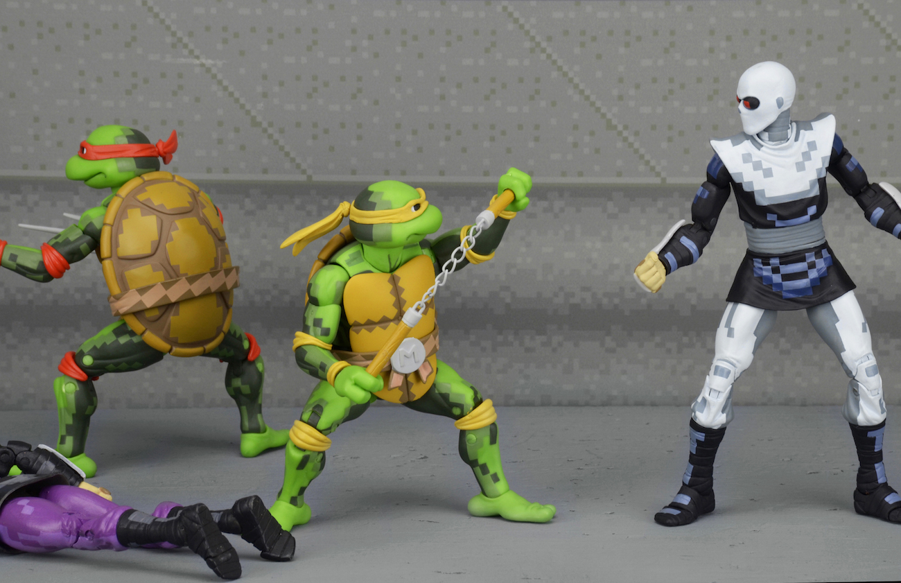NECA: SDCC Exclusive TMNT Arcade Turtles and Foot Clan Box Sets |