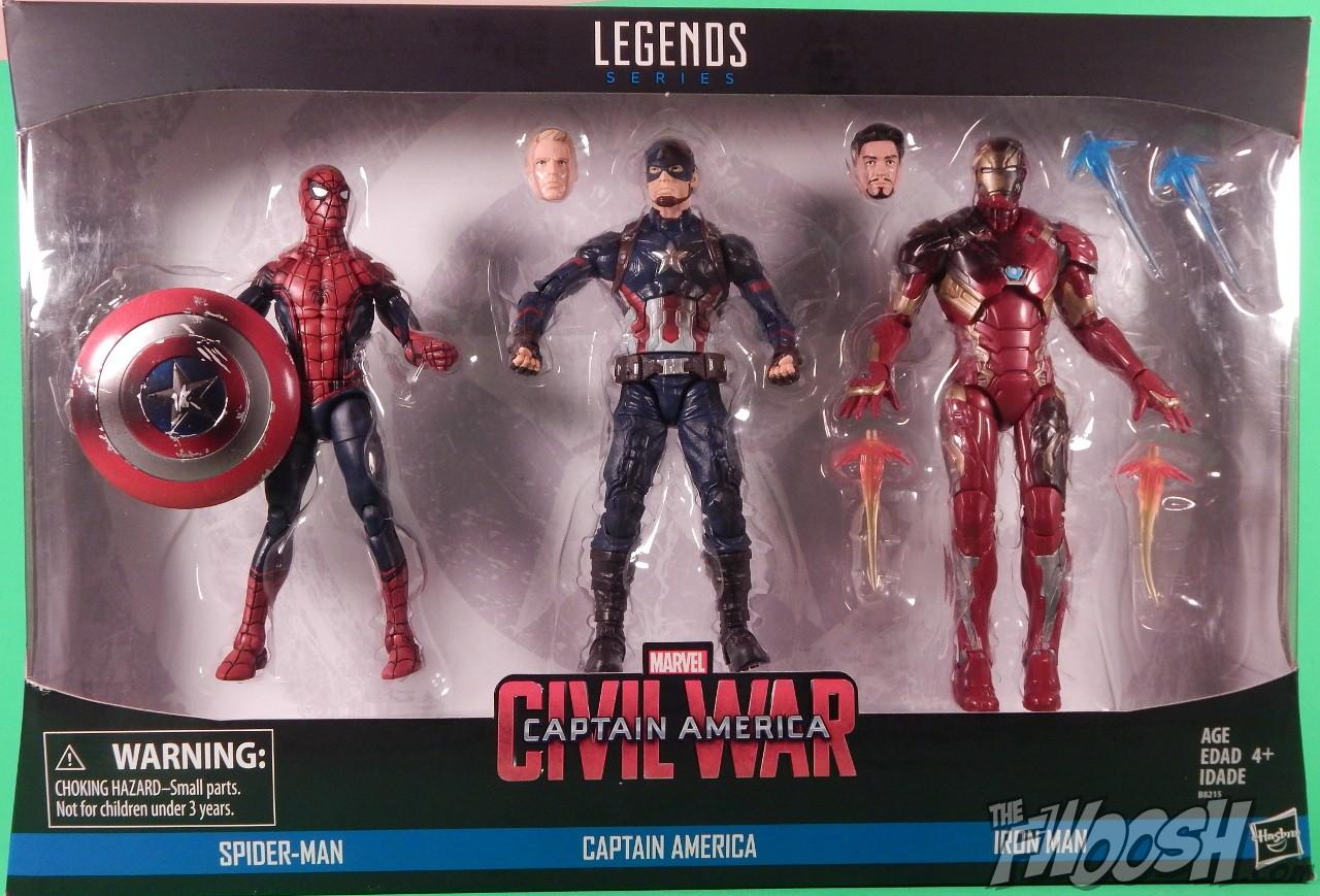 """Marvel Legends 6/"""" pouces 3-Pack Captain America civil war IRON MAN Loose complet"""