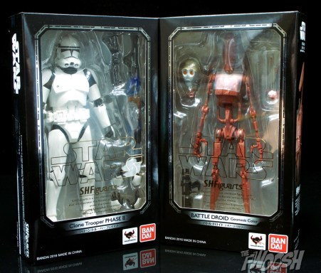 bandai sh figuarts phase 2 clone trooper and geonosis