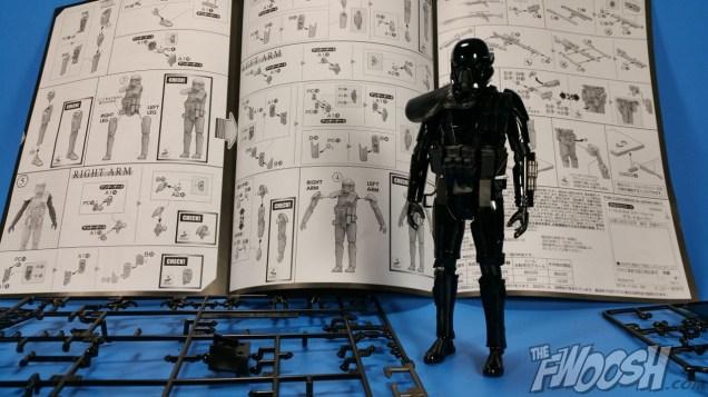 Bandai Star Wars Rogue One Model Kit Death Trooper Build 05