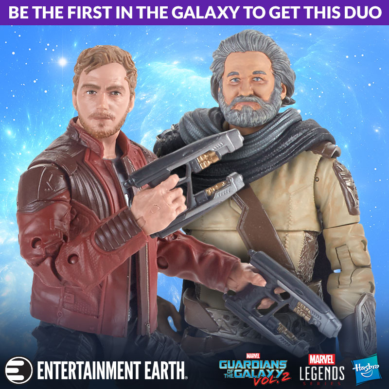 Marvel Legends Guardians of the Galaxy Vol 2 Marvel's Ego /& Star-Lord 2-Pack
