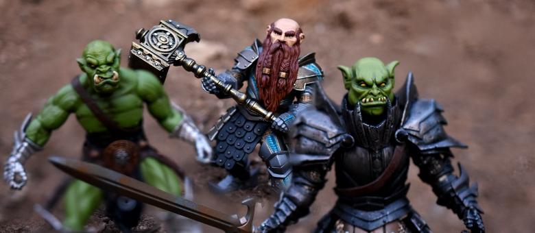 HEAD ONLY Mythic Legion Four Horsemen Custom Painted Arnold