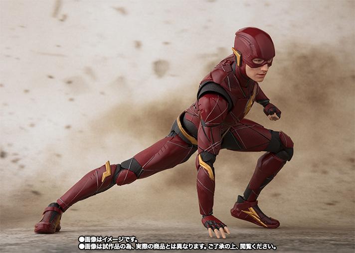 en stock USA Figuarts Flash Justice League P-Bandai Web Exclusif Bandai S.H