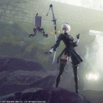 Square Enix BRING ARTS NieR Automata 2B Machine 2 Figure Set Promo 01