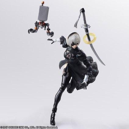Square Enix BRING ARTS NieR Automata 2B Machine 2 Figure Set Promo 09