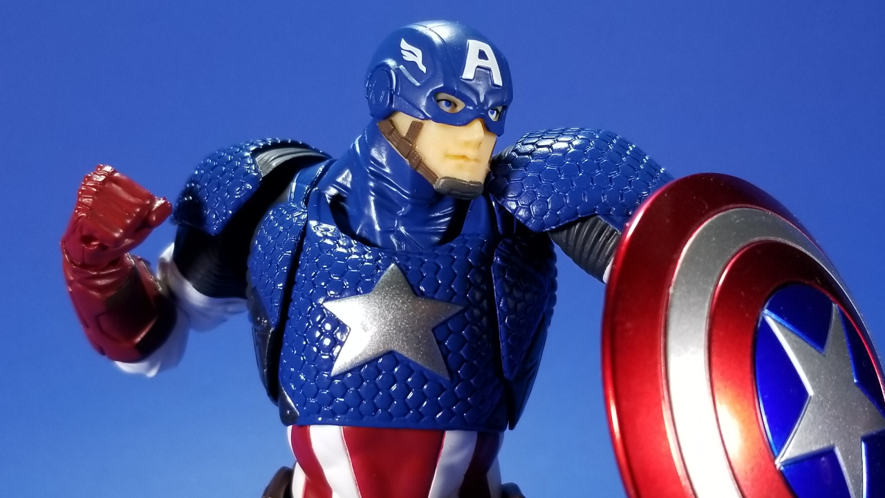 Kaiyodo Revoltech Amazing Yamaguchi Captain America Action Figure Toy New in Box